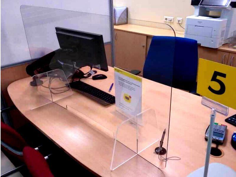 Настольный защитный экран для кассы
